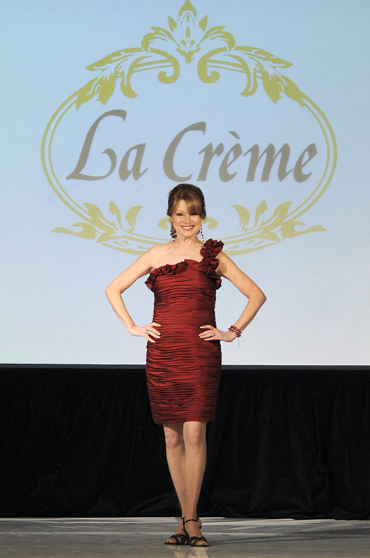 red dress from La Creme
