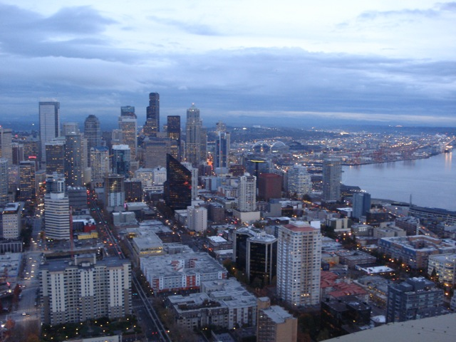 Seattle at twilight