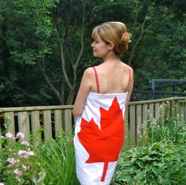 canadian flag towel