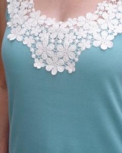 lacy neckline
