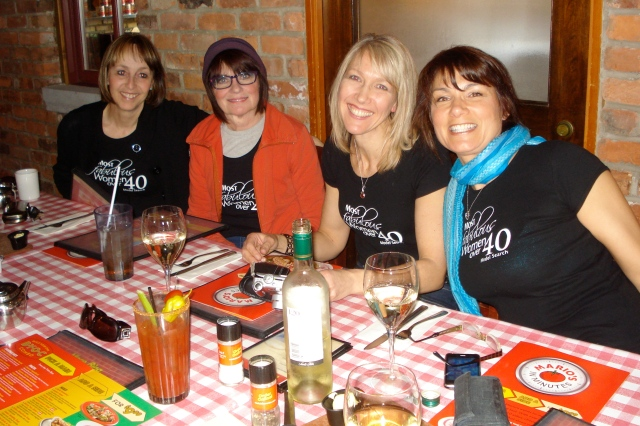 Lise on the left, Marlene, Gudrun, Trish