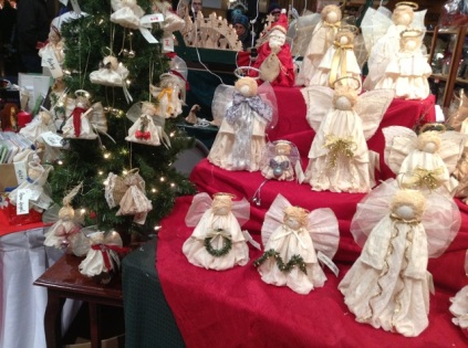 handmade tree angels