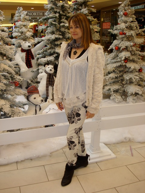 faux fur and floral skinny 3