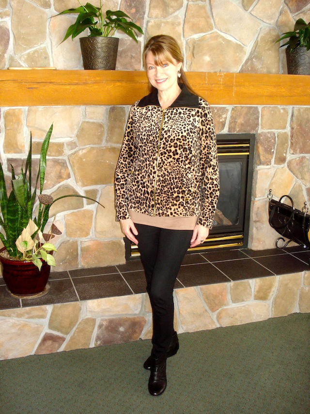 Sears leopard jacket
