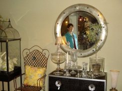 Maggie in the mirror