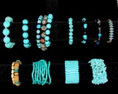 turquoise bracelets to choose from - sometimes I wear an arm party!