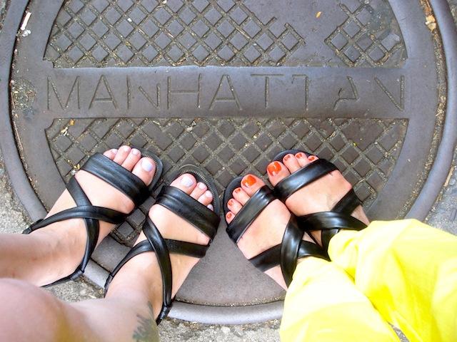 toes in Manhattan