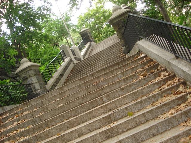 steps in Morningside Park