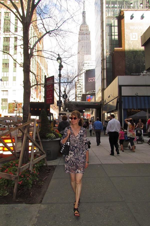 sidewalk of NYC