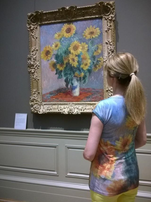 Monet sunflowers