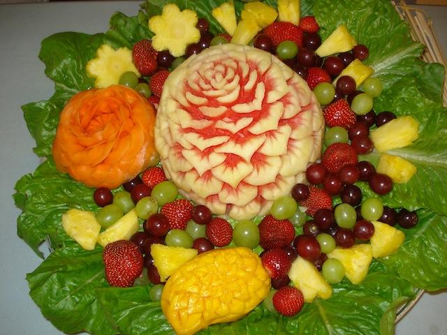 fancy fruit platter