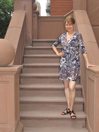 I wore my new wrap dress from Bebenoir