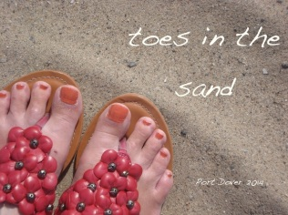 toes in the sand
