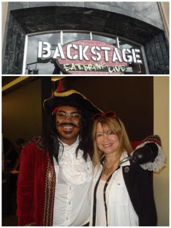 Backstage with Captain Hook after seeing Peter Pan, an amazing performance!
