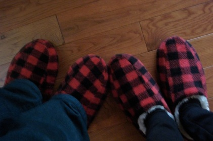 Cozy slippers from Giant Tiger