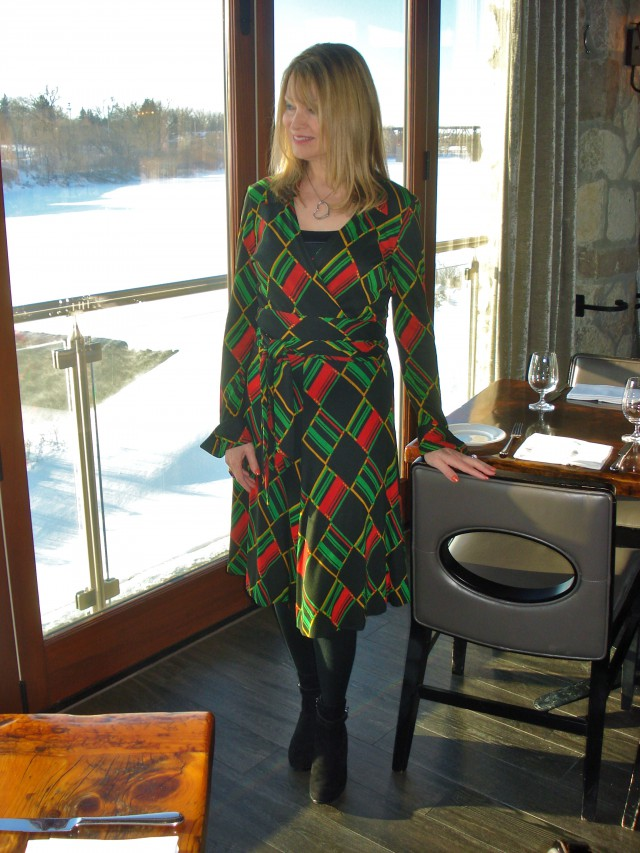 DVF wrap dress