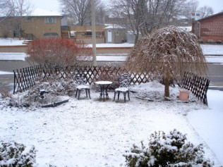Easter snowfall