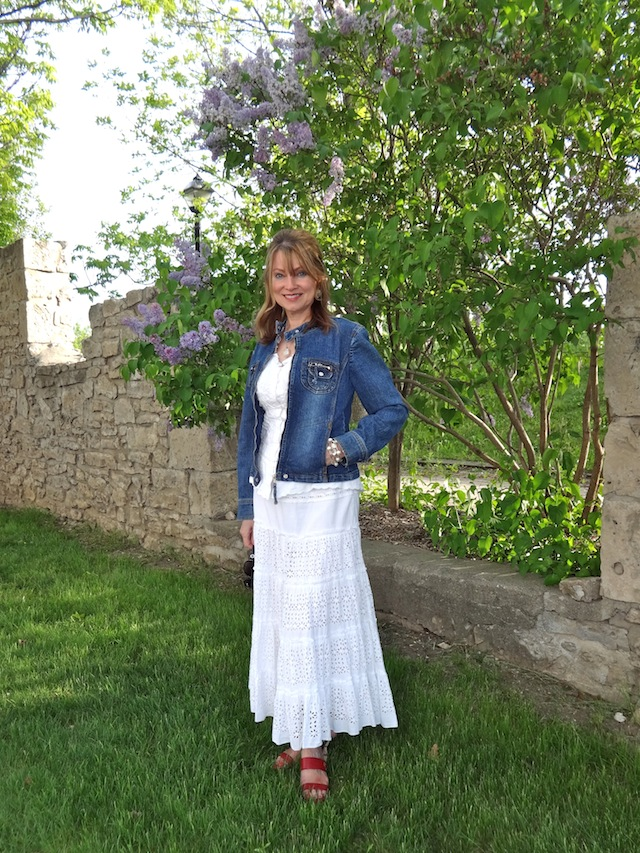 denim and eyelet