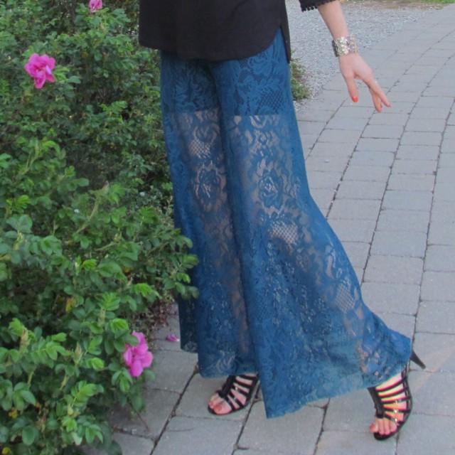closeup palazzo pants