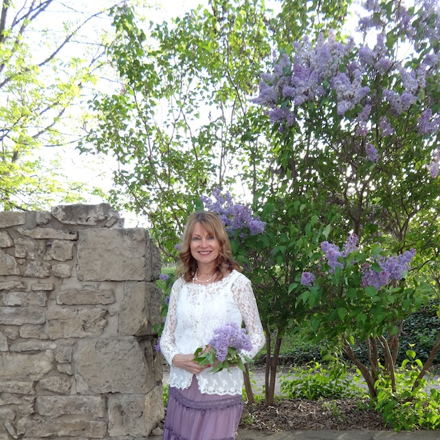lilacs by the ruins