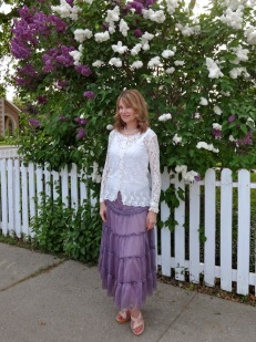 white lace and lilacs