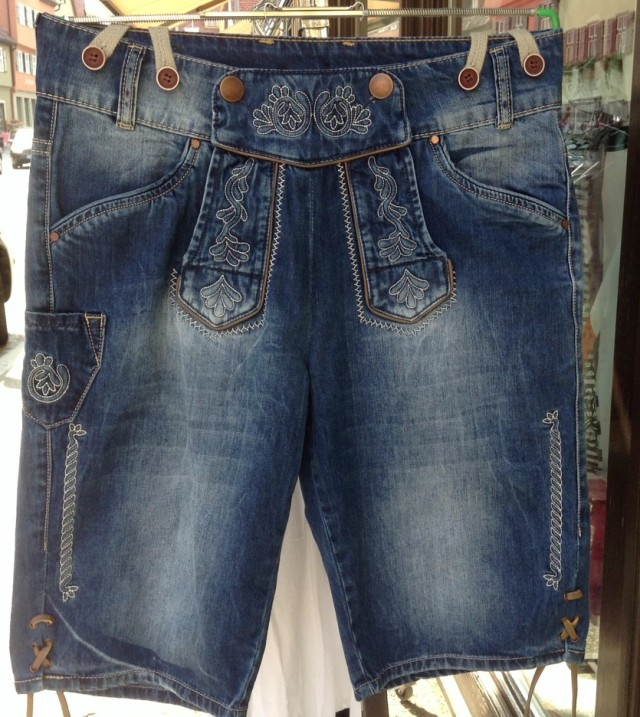 denim lederhosen
