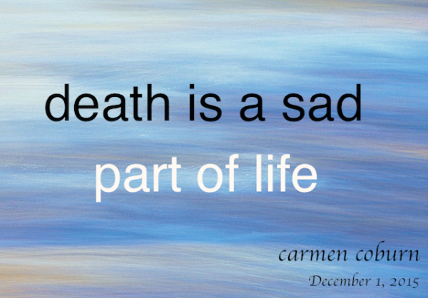 death is a sad part of life