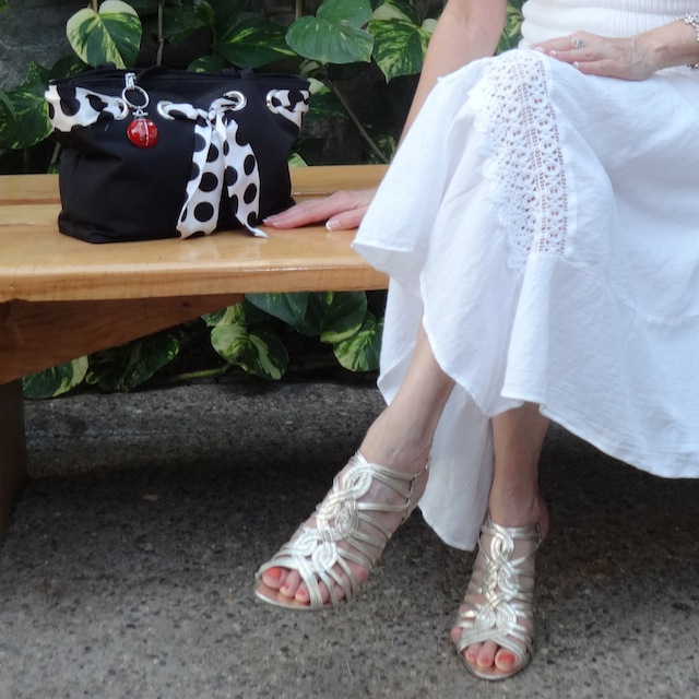 purse and sandals