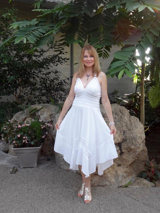 white sundress from Peru