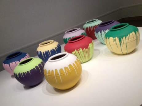 Contemporary artist Ai Wei Wei's huge colored vases