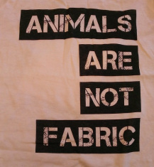 animals are not fabric