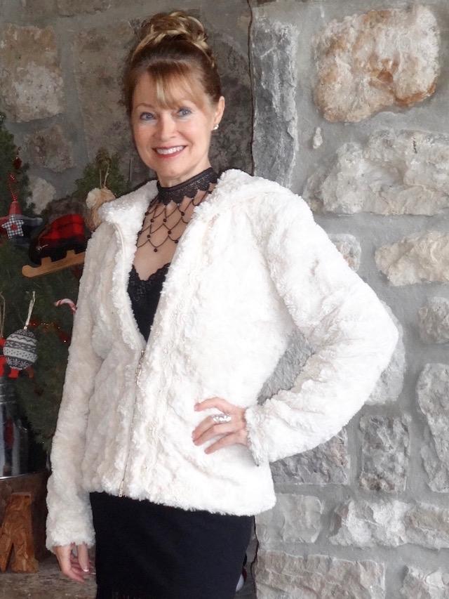 Joseph Ribkoff faux fur jacket