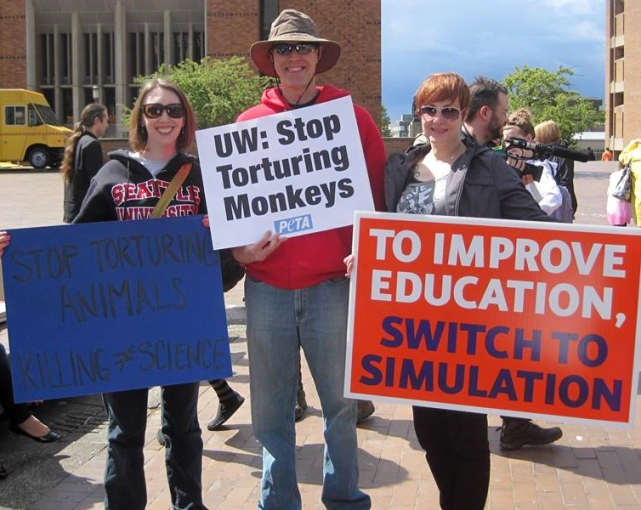 protesters against animal testing