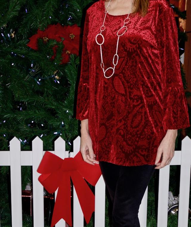 red velvet paisley