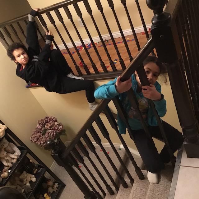 climbing railings
