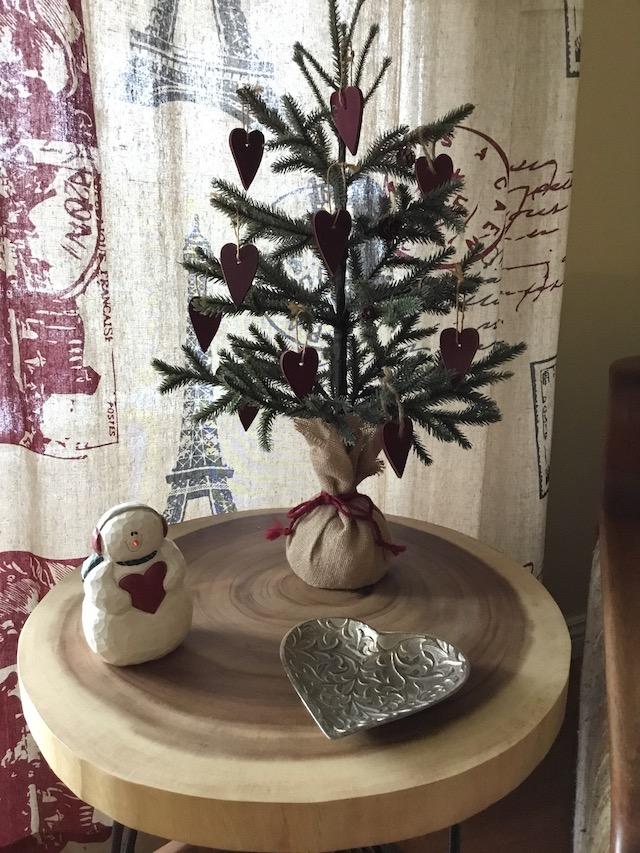 hearts on tree