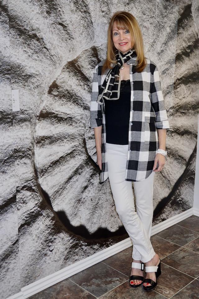 black and white checkered white 1