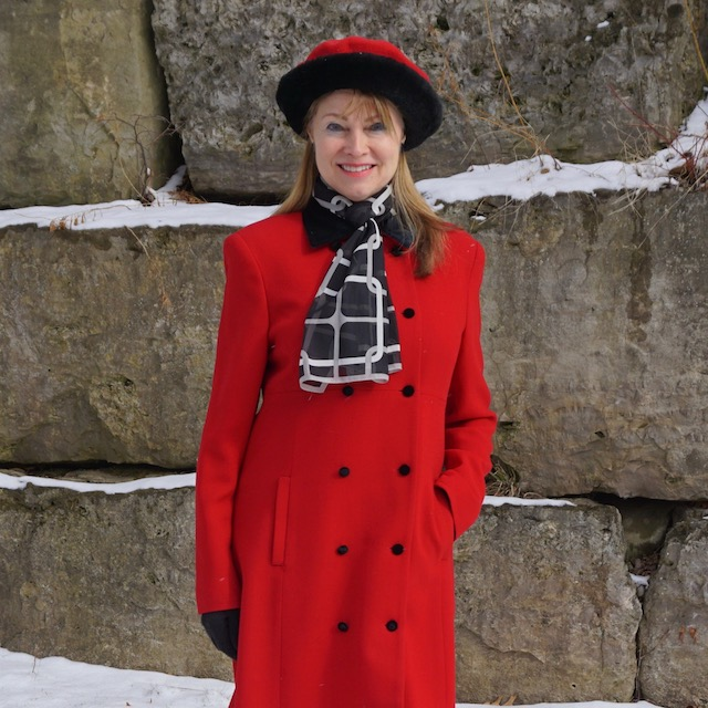 red coat and beret 2