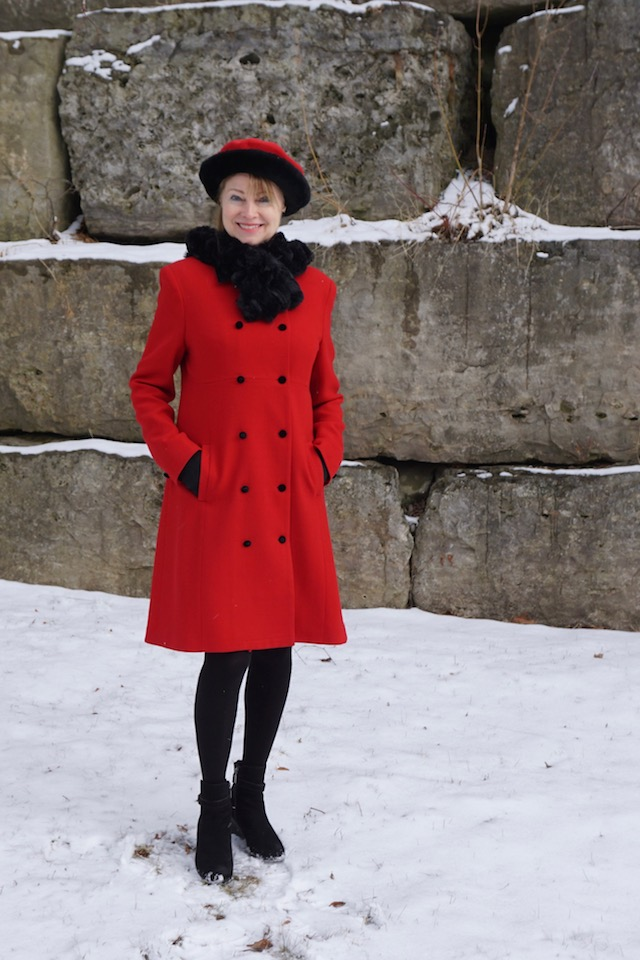 red coat and beret 3