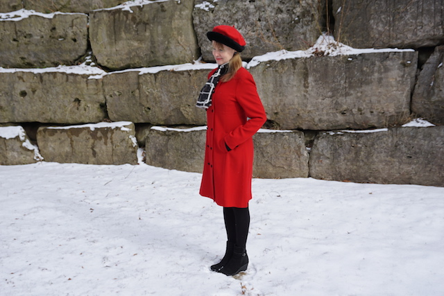 red coat and beret 4