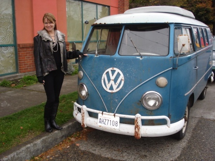 VW bus at Fremont Flea Market in Seattle. Sometimes it's good to leave the old cars in their rustic state.