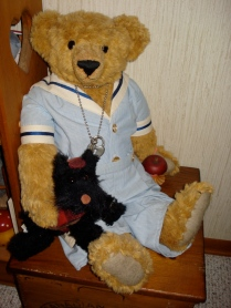 Timothy and Scotty - artist bear made in Scotland