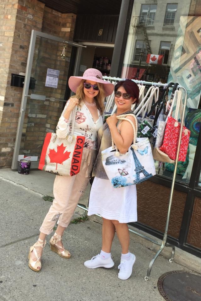 Canada and Paris bags